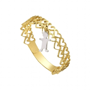 ANEL OURO 18K BICOLOR AN1751A
