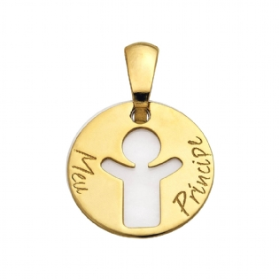 PINGENTE OURO AM.18K MADREPEROLA PG1552