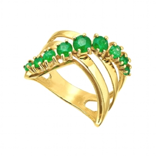 ANEL OURO AMARELO 18K JADE AN1734