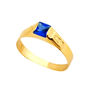 ANEL OURO AMARELO 18K ZIRCONIA AN172