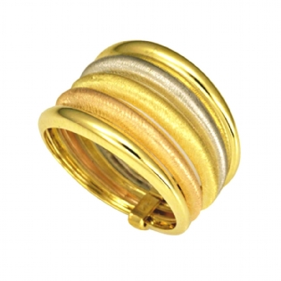 ANEL OURO 18K TRICOLOR AN1349